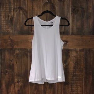 white athletic tank top
